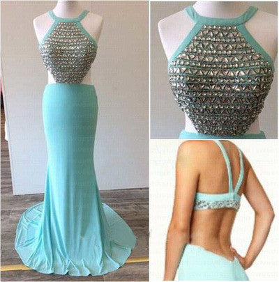 Blue prom dresses,backless prom dress,prom dresses 2017,sexy prom dresses,charming prom dress,BD100 - dream dress