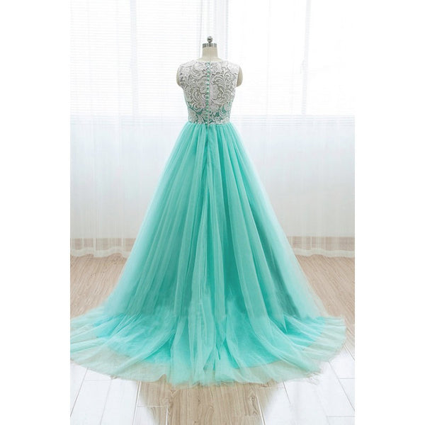 Mint Prom Dress,A-line Prom Dress,Tulle Prom Dress,A-line prom dress,2017 Prom Dress,Party dress gown,BD111 - dream dress