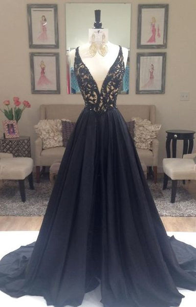 black prom Dress,charming Prom Dress,A-line prom dress,evening prom dress,long prom dress,BD611 - dream dress