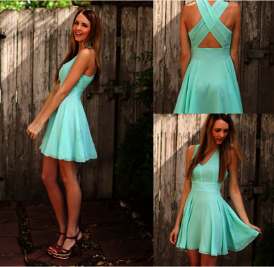 Short prom Dress,mint Prom Dresses,cheap prom dress,Party dress for girls,homecoming dress,BD1246 - dream dress