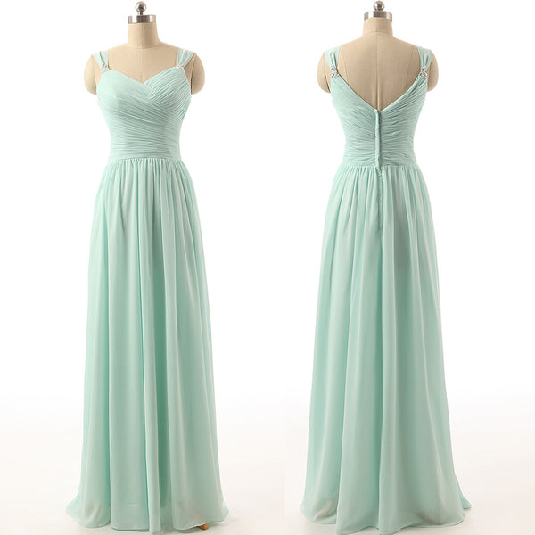 long bridesmaid Dress, mint bridesmaid Dress, chiffon bridesmaid Dress, simple bridesmaid Dress, BD1646 - dream dress