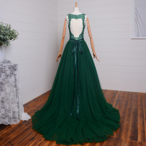 Green Prom Dresses, Lace Prom Dress,Dresses For Prom,2017 Prom Dress,Formal Prom Dress,BD352 - dream dress