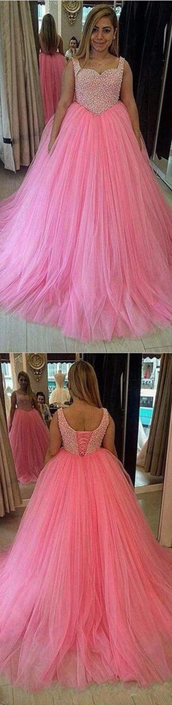 pink prom dress,A-line prom dress,high waist prom dress,long prom dress,evening gown for teens,BD3218