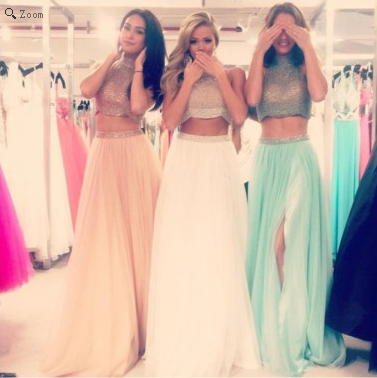 two pieces Prom Dresses,charming Prom Dress,Dresses For Prom,party Prom Dress,long Prom Dress,BD900 - dream dress