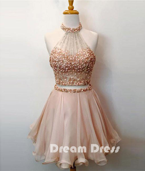 Cute two pieces short prom dresses, cute homecoming dresses,PD020018