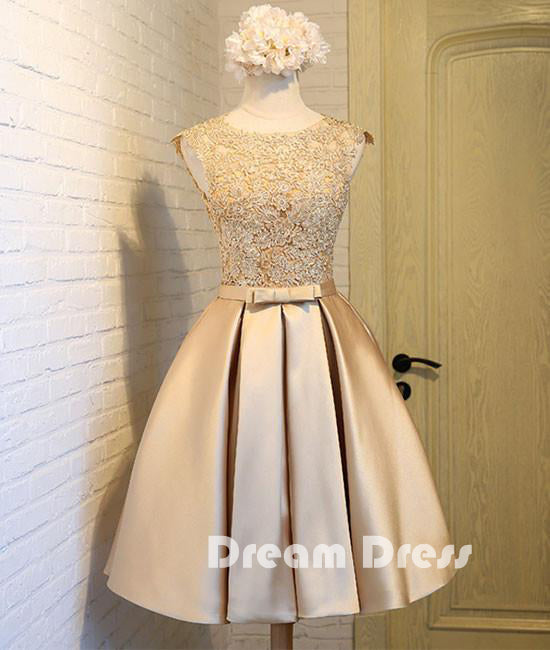 lace short prom dresses, cute homecoming dresses,PD030001