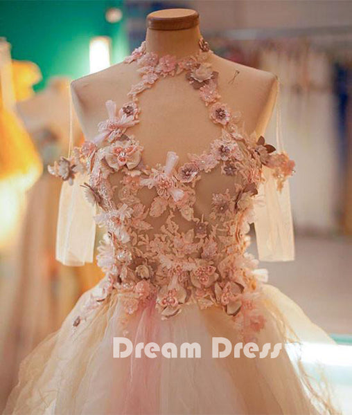 Cute tulle lace applique short prom dresses, cute homecoming dresses,PD250005