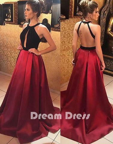 backless long prom dress,evening dresses,PD270022