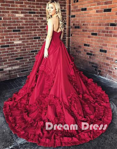 Sweetheart neck long prom dress, evening dresses,PD270025