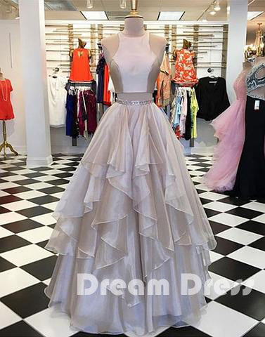two pieces long prom dress, evening dresses,PD270028