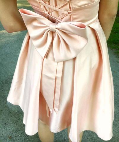 A-LINE BRIDESMAID DRESSES STRAPS TAFFETA SHORT BRIDESMAID DRESSES,PD1525 - dream dress