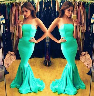 blue Prom Dress,long Prom Dress,strapless Prom dress,mermaid prom Dress,evening dress,BD612 - dream dress