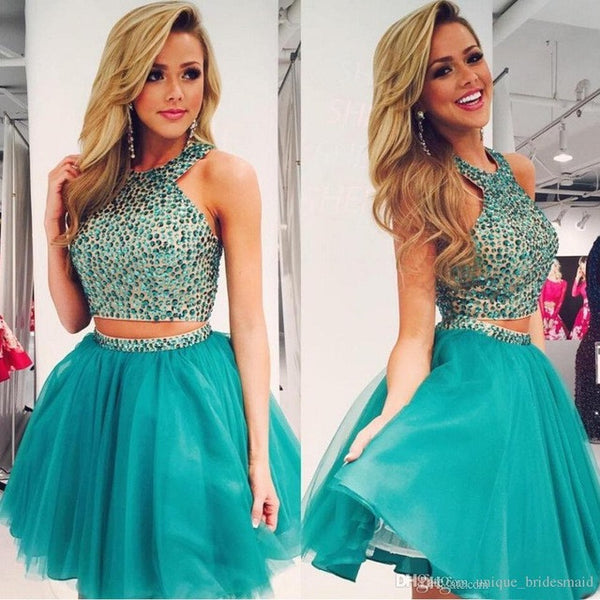 Short Prom Dresses,Two pieces Prom Dress,Party Prom dress,Homecoming Dress,prom dress for girls,BD353 - dream dress