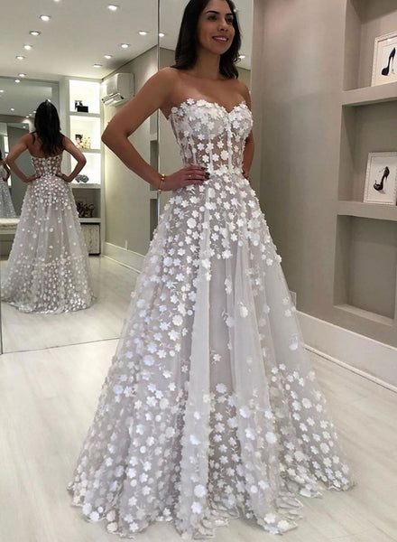 Sweetheart A Line Prom Dresses Long Floor Length Beautiful Prom/Evening Dresses,PD3791