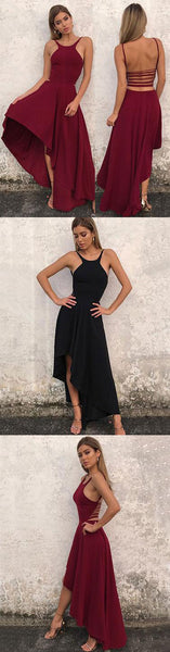 Stylish A line chiffon high low prom dress, evening dress,BD1705