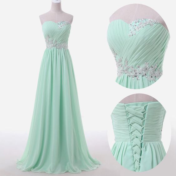 Mint Prom Dresses,Chiffon Prom Dress,Dresses For Prom,Cheap Prom Dress,Sweetheart Prom Dress,BD371 - dream dress
