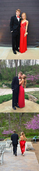 red prom dress,long prom dress,chiffon prom dress,cheap prom dress,backless evening dress,BD2622