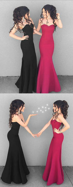 Stylish mermaid sweetheart neck long prom dress, simple evening dresses,BD1701