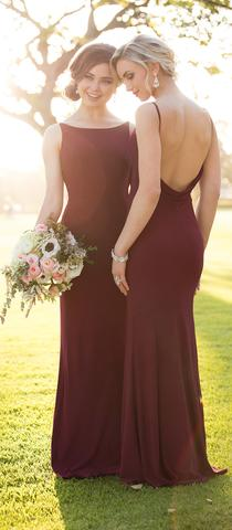 TRUMPET/MERMAID BRIDESMAID DRESSES BATEAU LONG BRIDESMAID DRESSES,PD1514 - dream dress