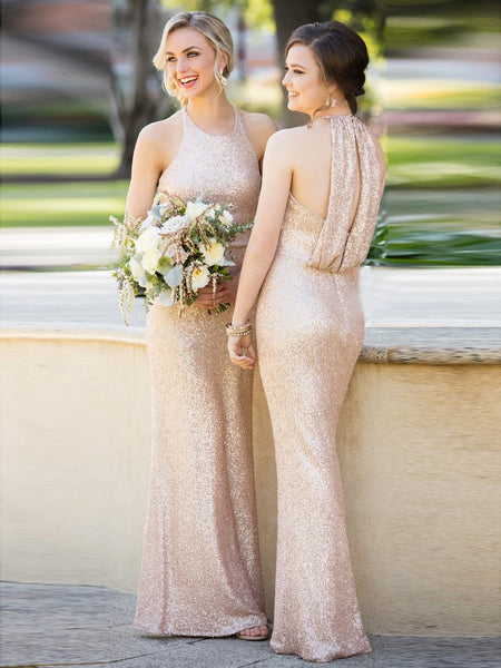SHEATH/COLUMN BRIDESMAID DRESSES SCOOP LONG BRIDESMAID DRESSES,PD1517 - dream dress
