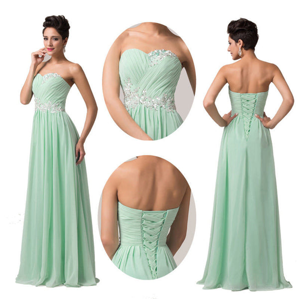 mint Bridesmaid Dress,Long Bridesmaid Dress,Sweetheart Bridesmaid Dress,lace up prom dress,BD797 - dream dress