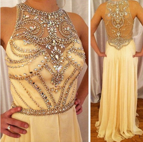 Yellow prom Dress,Charming Prom Dresses,Fashion prom Dress,2016 prom dress,Party prom dress,BD107 - dream dress