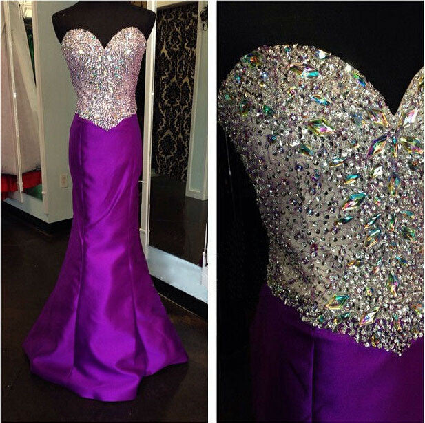 Purple Prom Dresses,Charming Prom Dresses,Sweetheart Prom Dress,Long Prom Dress, Mermaid Prom Dress,BD137 - dream dress