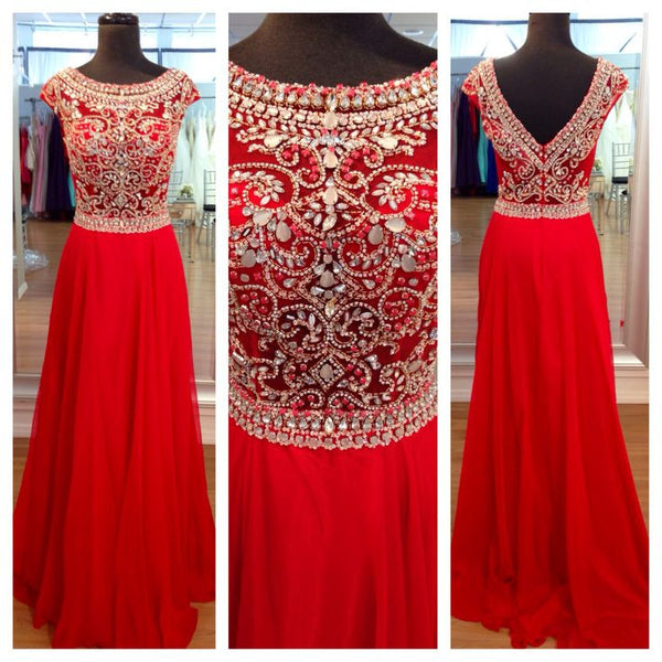 Red Prom Dresses,Charming Prom Dresses,Rhinestone Prom Dress,Long Prom Dress, Party Prom Dress,BD138 - dream dress