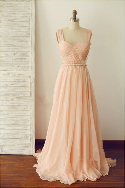 pink bridesmaid dress,long bridesmaid dress,backless bridesmaid dress,cheap prom dress,BD811 - dream dress