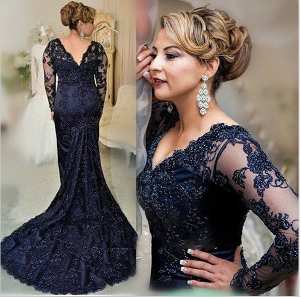 black prom Dress,mermaid Prom Dress,long sleeves prom dress,lace prom dress,prom dress long,BD287699 - dream dress