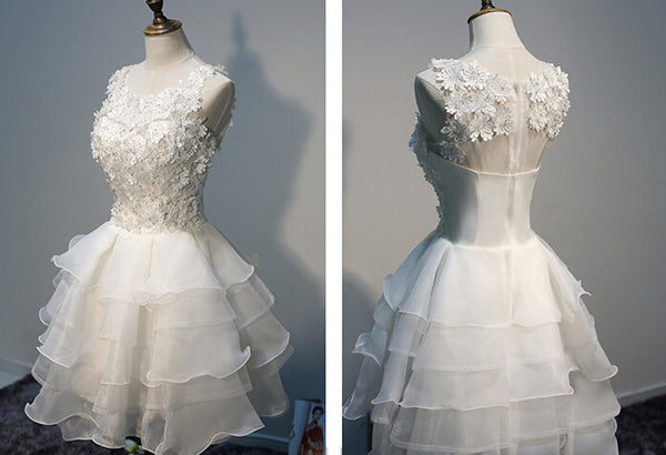 White prom Dress,Cheap Prom Dresses,Party dress for girls,A-line prom dress,homecoming dress,BD367 - dream dress