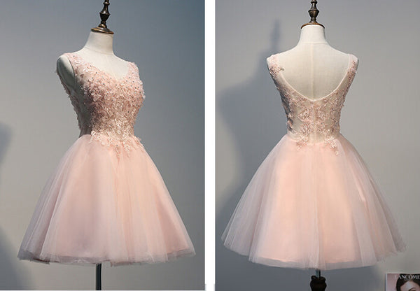 Pink prom Dress,Tulle Prom Dresses,Party dress for girls,cheap prom dress,homecoming dress,BD368 - dream dress