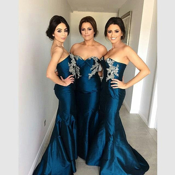 mermaid bridesmaid dress,Long bridesmaid dress,sweetheart bridesmaid dress,2016 bridesmaid dress,BD840 - dream dress