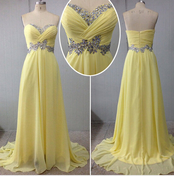yellow prom Dress,long Prom Dress,charming prom dress,2016 prom dress,party dress,BD1407 - dream dress