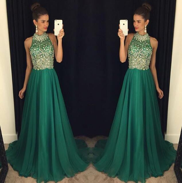 green prom Dress,charming Prom Dresses,Evening Dress,long prom dress,new prom dress,BD1654 - dream dress