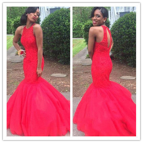 red prom Dress,mermaid Prom Dresses,long prom dress,2017 prom dress,party dress,BD1662 - dream dress