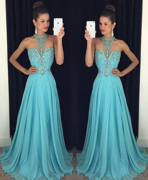 blue prom Dress,charming Prom Dresses,2017 Evening Dress,long prom dress,Party dress,BD1652 - dream dress