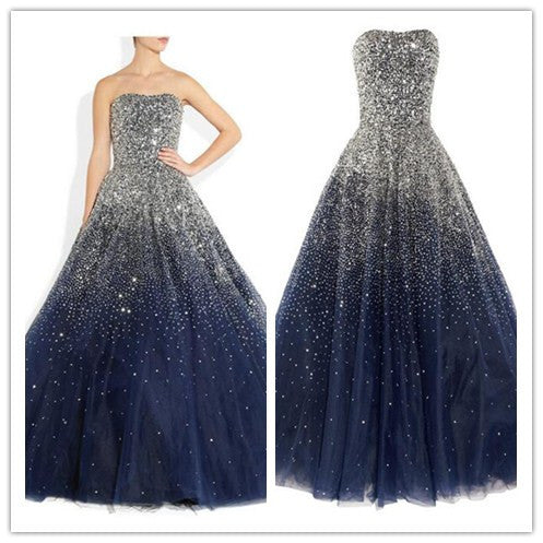navy blue prom Dress,A-line Prom Dresses,long prom dress,charming prom dress,prom gown,BD1667 - dream dress