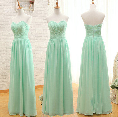 mint bridesmaid dress,long bridesmaid dress,chiffon bridesmaid dress,sweetheart bridesmaid dress,BD1602 - dream dress