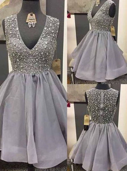 short prom dress,beaded Prom Dress,charming prom dress,mini evening gown,homecoming dress for girls,BD2722 - dream dress