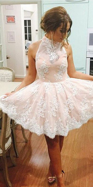 short homecoming dress,lace Prom Dress,cute prom dress,party dress for teens,new graduation dress,BD2709 - dream dress