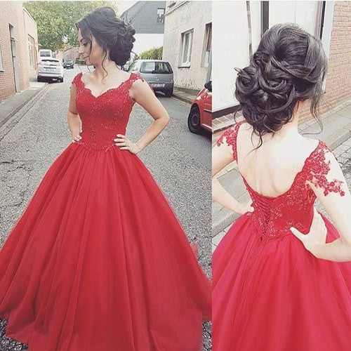 red prom Dress,A-line Prom Dress,long prom dress,lace up prom dress,charming prom gowns,BD28777 - dream dress