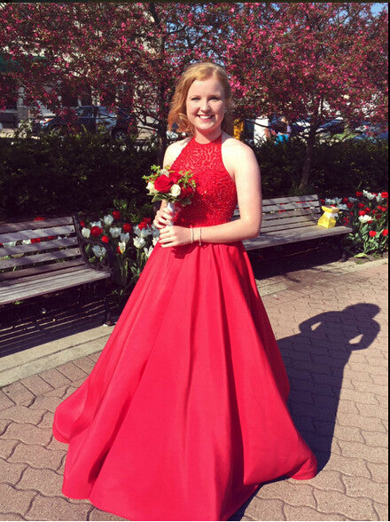 red prom Dress,long Prom Dress,A-line prom dress,charming prom dress,prom gown 2017,BD28773 - dream dress