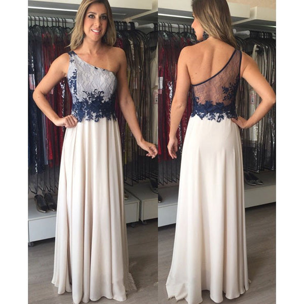 one shoulder prom dress,long prom Dress,cheap Prom Dress,2017 prom dress,new prom dress,BD3917 - dream dress