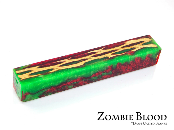 Cactus Pen Blank by Dan Pompe - Zombie Blood