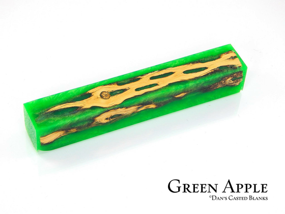 Cactus Pen Blank by Dan Pompe - Green Apple
