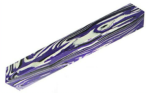 Yunstone; Purple and White Pen Blank