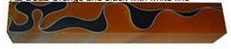 Acrylic Pen Blank - Orange and Black with White Line