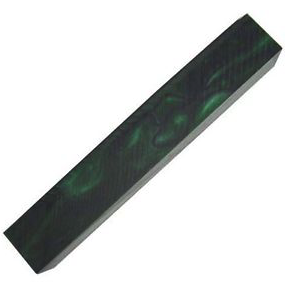Acrylic Pen Blank - Dark Green with Black Lines