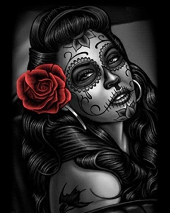 Sugar Skull in Red - Sierra